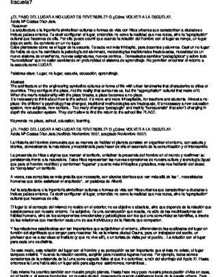 Costas, Adela Mª: ¿el Paso Del Lugar A No