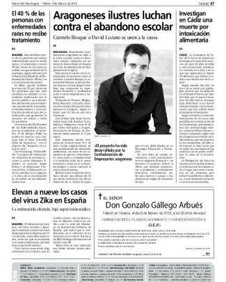 Aragoneses Ilustres Luchan Contra El Abandono Escolar