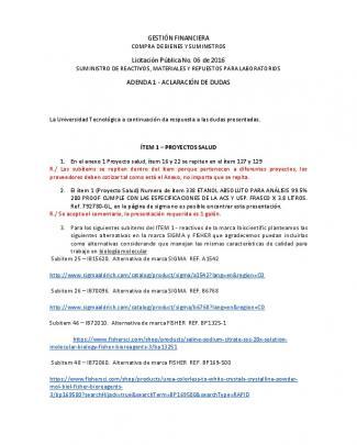 Adenda 1 Aclaración De Dudas - Universidad Tecnológica De Pereira