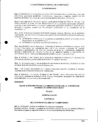 Reglamento De La Comisión Jurídica