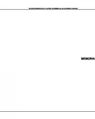 Memoria - Consejería De Fomento, Vivienda, Ordenación Del