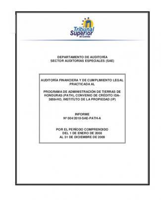 Informe No. 004-2010-sae-path-a