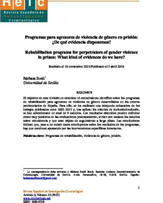 R Eic - Sociedad Española De Investigación Criminológica