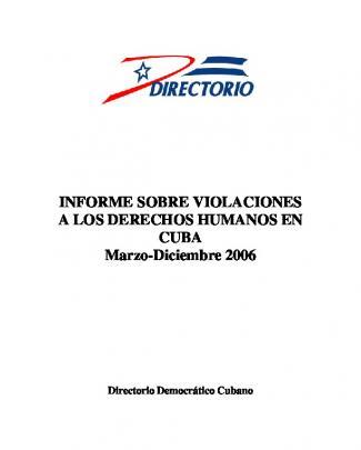 Informe Sobre Violaciones A Los Derechos Humanos En Cuba Marzo