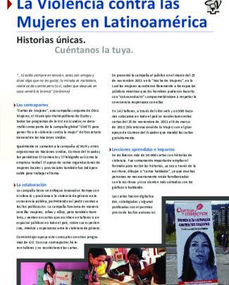 La Violencia Contra Las Mujeres En Latinoamérica