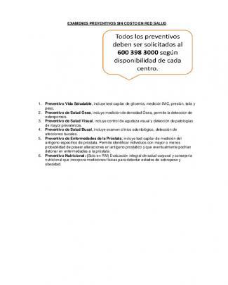 Examenes Preventivos Sin Costo En Red Salud 1