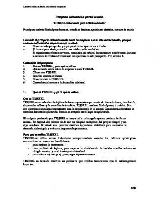 Prospecto Tisseel - Baxterspraysafety.com