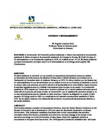 Revista Electrónica De Derecho Ambiental