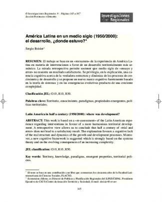 América Latina En Un Medio Siglo - Asociación Española De Ciencia