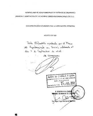 Memoria De Las Normas Subsidiarias Municipales