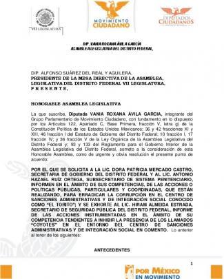 Dip. Alfonso Suárez Del Real Y Aguilera, Presidente De La Mesa