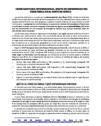 Informe Técnico Enfermedad Virus Ebola. Elaborado Por El Consejo