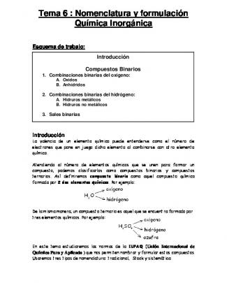 Tema6formulaciónynomenclaturadecompuestosbinarios