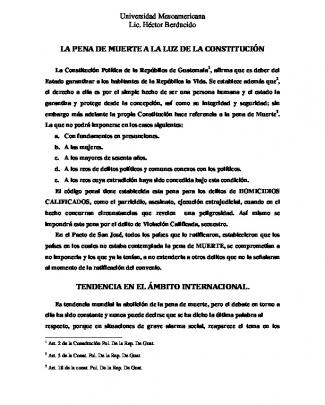 La Pena De Muerte - Lic. Hector E. Berducido M.