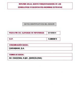 Caixabank, S.a. Av. Diagonal N.621, (barcelona)