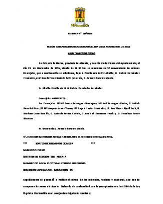 Pleno Extra 6, 23112015 Sin Direcciones