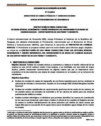 Documentos De Expresión De Interés