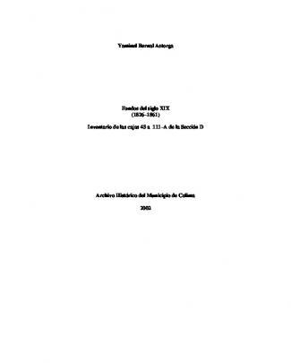 Fondos Del Siglo Xix - Archivo Histórico Del Municipio De Colima
