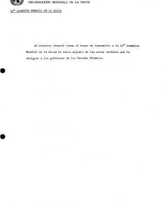 Vb-c д ь > . I World Health Organization A42/inf.doc./3 怂