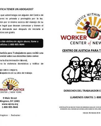 Wjcny Worker`s Rights Brochure 2016 (spanish)