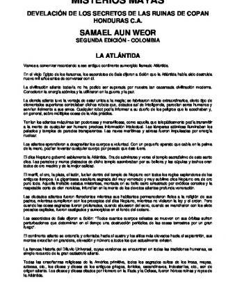Misterios Mayas - Samael Aun Weor .ro