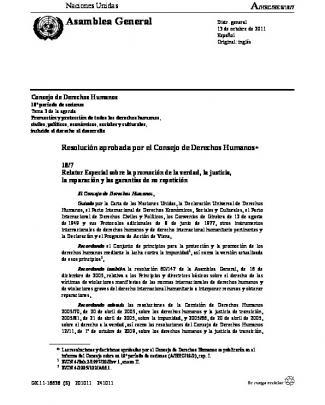Asamblea General - Ante Los Organismos Internacionales En Ginebra