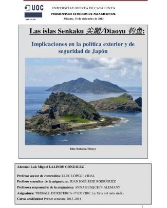 Las Islas Senkaku/diaoyu - Repositori Institucional