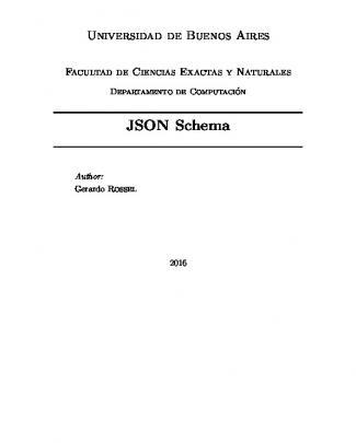 Json Schema - Departamento De Computación