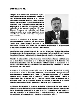 Jaime Granados Peña - Perfil Profesional