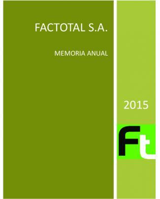Factotal S.a - Factotal. Factoring