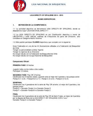 Liga Nacional De Básquetbol - Liga Nacional De Basquetbol