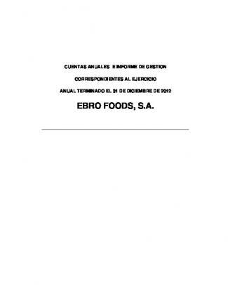 Cuentas Anuales Individuales E Informe De Gestión