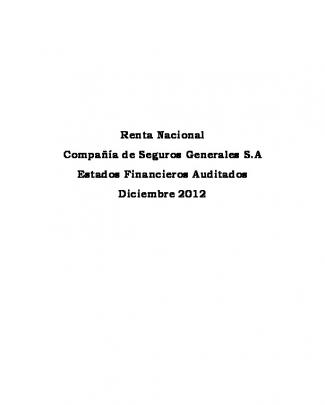Renta Nacional Compañía De Seguros Generales S.a Estados