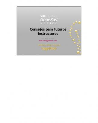 Consejos Para Futuros Instructores