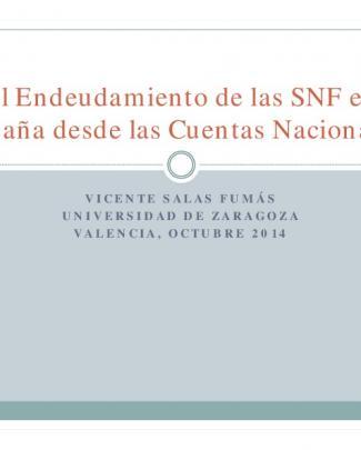 El Endeudamiento De Las Snf En España Desde Las Cuentas