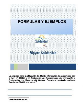 Fórmulas - Edpyme Solidaridad