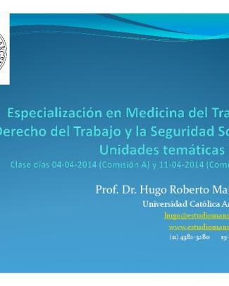 Prof. Dr. Hugo Roberto Mansueti - Universidad Católica Argentina