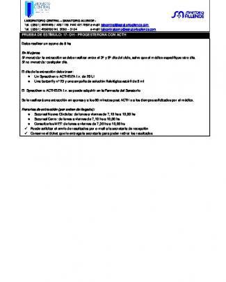 Prueba De Estímulo 17-oh