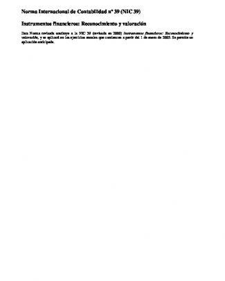 Nic39 Instrumentos Financieros - U