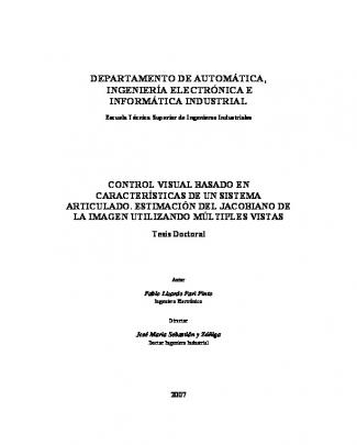 Control Visual Basado En Características De Un Sistema Articulado
