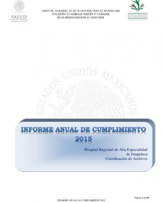 Informe 2015 Presentado Al Comité