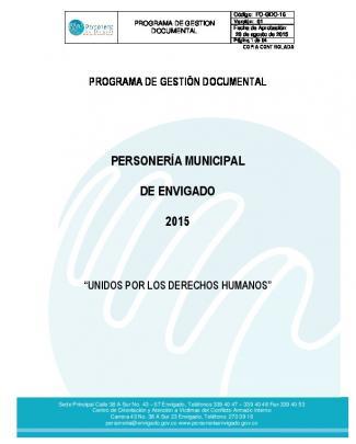 Programa De Gestión Documental
