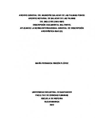 Archivo General Del Municipio Salazar De Las Palmas
