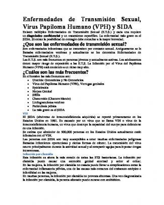 Enfermedades De Transmisión Sexual, Virus Papiloma Humano (vph)