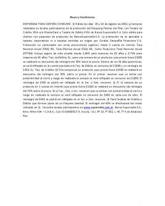 Bases Y Condiciones Disponible Para Cartera Consumo. 1