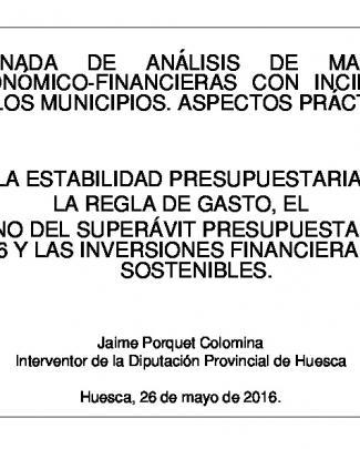 Cuestiones Económico-financieras - Diputación Provincial De Huesca