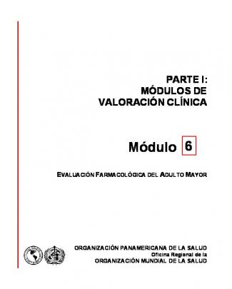 Módulo 6. Evaluación Farmacológica Del Adulto Mayor