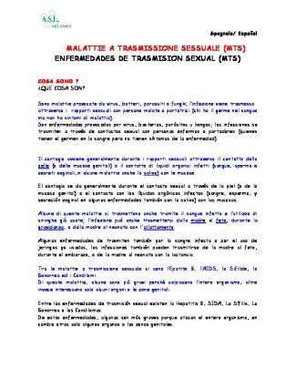 Malattie A Trasmissione Sessuale (mts) Enfermedades