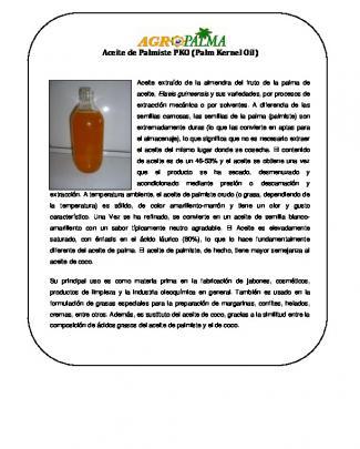 Aceite De Palmiste Pko