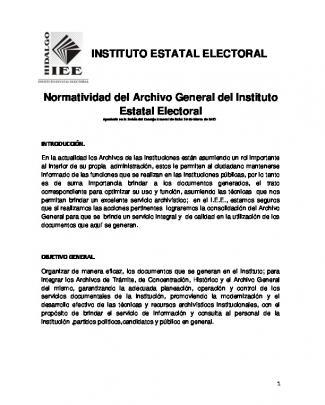 Normatividad Del Archivo General